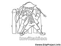 Pirate image gratuite – Invitations à imprimer