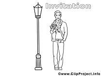Rendez-vous dessin – Invitations à colorier
