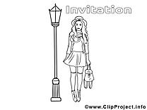 Rendez-vous illustration – Invitations à colorier