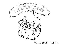 Souris cliparts gratuis – Invitations à imprimer