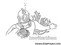 Sous-marinier dessins gratuits – Invitations à colorier