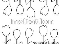Tulipes images gratuites – Invitations à colorier