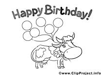 Vache clipart gratuit – Invitations à colorier