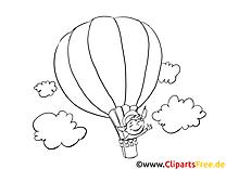 Ballon clipart – Jour de l'Indépendance à colorier