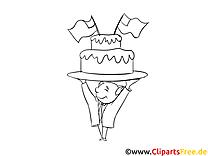 Coloriage jour de l'Indépendance image gâteau