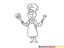 Cuisinier clip arts – Jour de l'Indépendance à imprimer