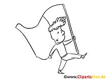Drapeau image – Jour de l'Indépendance à colorier