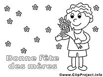 Fleurs clip art – Journée des femmes à imprimer