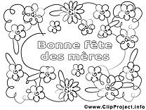Fleurs dessin – Journée des femmes à colorier