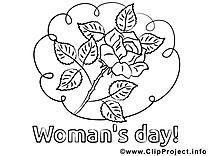 Rose dessin – Journée des femmes gratuits à imprimer