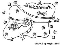 Serpent dessins– Journée des femmes à colorier