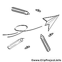 Avion en papier image à télécharger – École à colorier