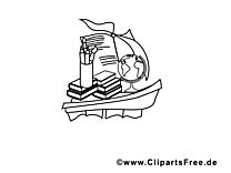 Bateau clip art gratuit – École à imprimer