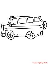Bus image – Coloriage école illustration