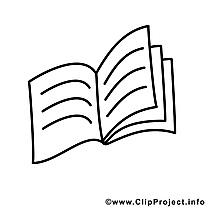 Cahier clipart gratuit – École à colorier