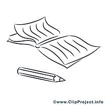 Cahier dessin à télécharger – École à colorier