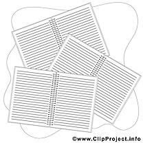 Carnets clip arts – École à imprimer