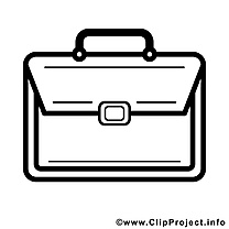 Cartable clip arts – École à imprimer