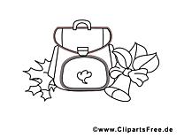 Cartable image – École images à colorier
