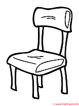 Chaise coloriage