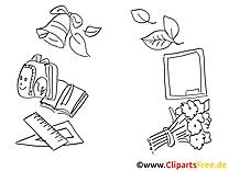 Clip art objets – École image à colorier
