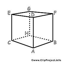 Coloriage cube école image à télécharger gratuite
