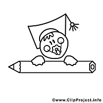 Crayon clip art gratuit – École à imprimer