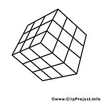 Cube de rubik clip art – École image à colorier