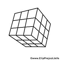 Cube de rubik dessin – École gratuits à imprimer