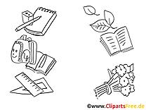 École image à télécharger – Objets à colorier