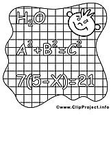 Équation clip art gratuit – École à colorier