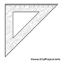 Équerre image – Coloriage école illustration