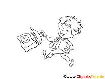 Garçon cartable images – École gratuits à imprimer