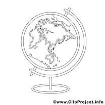 Globe images – École gratuit à imprimer