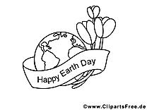 Illustration jour de la terre – école à imprimer