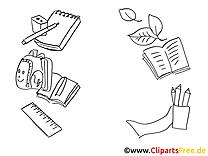 Illustration objets – école à imprimer
