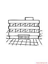 Image coloriage école illustration