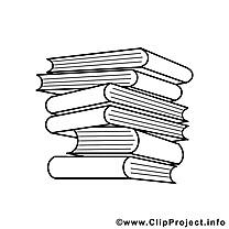 Manuels clipart gratuit – École à colorier