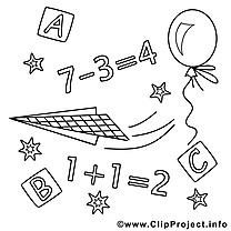 Math cliparts gratuis – École à imprimer