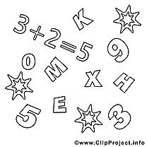 Math dessins gratuits – École à colorier