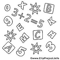 Math image gratuite – École à colorier