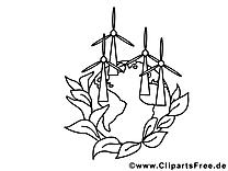 Moulins illustration – École à imprimer