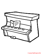 Piano coloriage