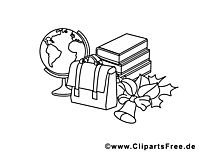 Rentrée clipart – École dessins à colorier
