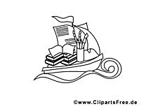 Rentrée image gratuite – École à colorier