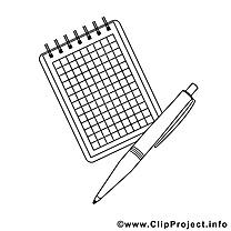 Stylo clipart – École dessins à colorier