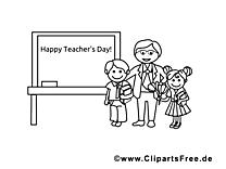Tableau dessins gratuits – École à colorier