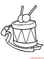 Tambour coloriage
