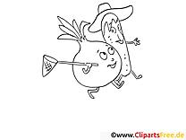 Coloriage légumes illustration à télécharger