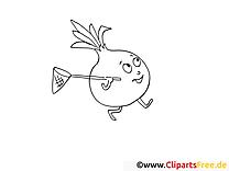 Oignon clipart – Légumes dessins à colorier